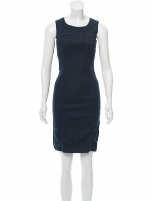 Prada Sleeveless Mini Dress blue