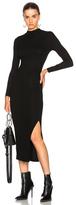 Enza Costa Rib Turtleneck Dress in Black.
