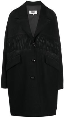 MM6 MAISON MARGIELA Fringe-Detail Oversize Coat