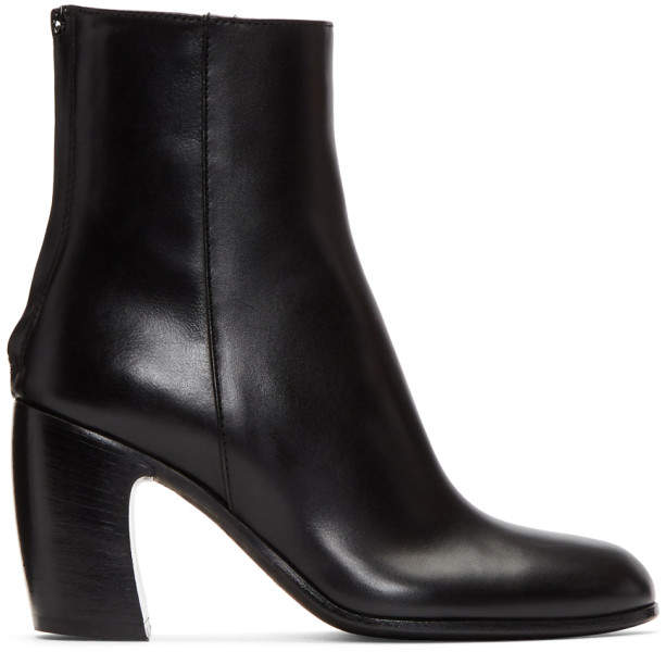 Ann Demeulemeester Black Heeled Ankle Boots