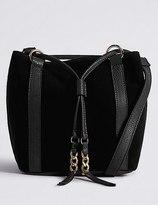 Marks and Spencer Velvet Drawstring Duffle Bag
