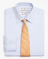 Brooks Brothers Luxury Collection Milano Slim-Fit Dress Shirt, Franklin Spread Collar Herringbone