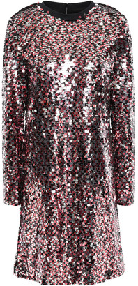 McQ Sequined Tulle Mini Dress