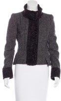 Dolce & Gabbana Wool Shearling-Trimmed Jacket