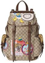 Gucci Soft GG Supreme backpack with appliqués