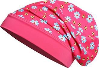 Playshoes Girl's Beanie Blumen mit UV-Schutz Hat, Pink (pink), (Manufacturer size: 53cm)