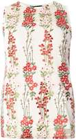 Dorothy Perkins Ivory Multi Floral Print Mesh Shell Top