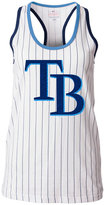5th & Ocean Women's Tampa Bay Rays Pinstripe Glitter Tank Top