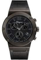 Salvatore Ferragamo 44mm F-80 Leather Watch