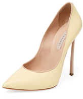 Casadei Leather Pointed-Toe Pump