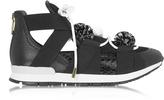 Vionnet Leather and Elaphè Pon Pon Sneakers