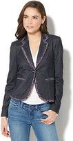 New York & Co. 7th Avenue Jacket - Single-Button - Metallic Tweed-Trim