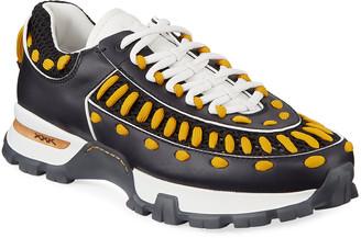 Ermenegildo Zegna Men's Claudio Low-Top Sneakers, Black