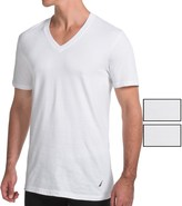 Nautica Cotton V-Neck T-Shirt - 3-Pack, Short Sleeve (For Men)