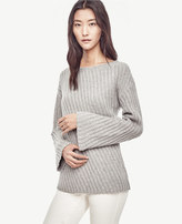 Ann Taylor Petite Stitched Bell Sleeve Sweater