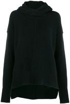 Isabel Benenato raised seam knit hoodie