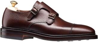 Crockett Jones Crockett and Jones Harrogate Double Monkstrap Shoe in Dark Brown