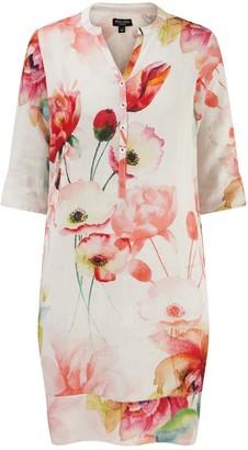 Nologo Chic Monkey Flower Linen Tunic Dress