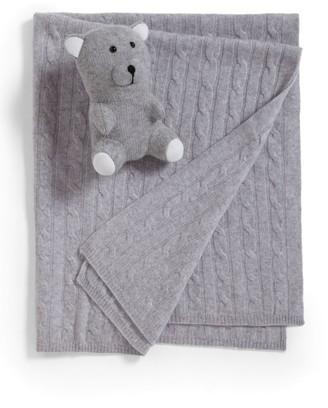 Sofia Cashmere 2-Piece Cashmere Baby Blanket & Teddy Bear Set