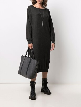 Brunello Cucinelli Bead-Embellished Knitted Dress