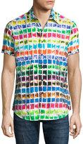 Robert Graham Rainbow Basin Short-Sleeve Sport Shirt, Multi