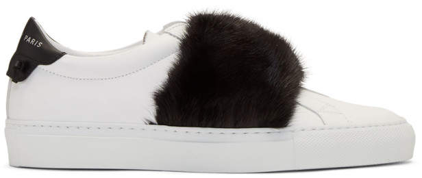 Givenchy White and Black Mink Urban Knots Sneakers