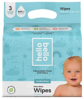 hello bello Wipes 3 Pack - 180 wipes