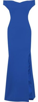 Zac Posen Off-the-shoulder Textured-cady Gown