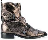 Schutz buckled metallic (Grey) boots
