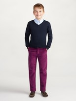 Oscar de la Renta Merino Cashmere V-Neck Sweater