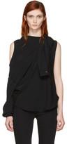 MM6 MAISON MARGIELA Black Fluid Single-sleeve Blouse