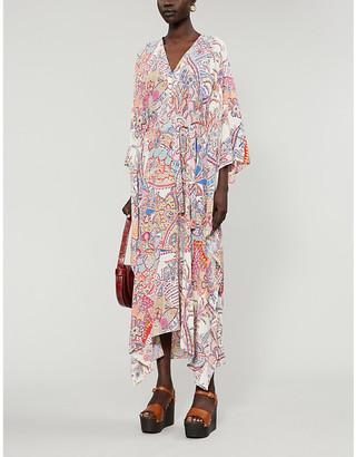 Etro Abito Gelsomino silk-crepe midi dress