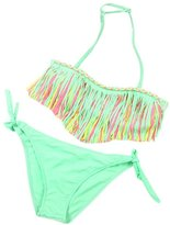 Doinshop 2016 New 1Set Baby Girls Summer Beach Swimwear Tassel Kids Split Nylon Swimsuit Bikini Set (S, )
