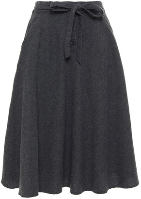 American Vintage Brushed Cotton-blend Twill Skirt