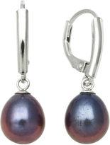 JCPenney FINE JEWELRY Black Cultured Freshwater Pearl Leverback Earrings
