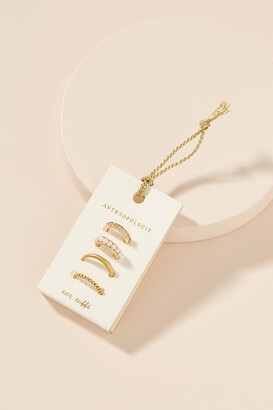 Anthropologie Minimalist Ear Cuff Set By in Gold Size ALL