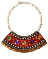 Matthew Williamson Orange Tribal Beaded Necklace