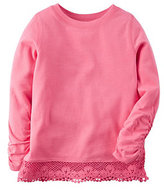 Carter's Baby Girl Long Sleeve Lace Hem Top