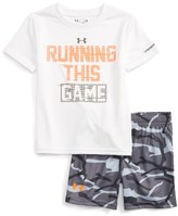 Under Armour Infant Boy's Running This Game Graphic T-Shirt & Shorts Set