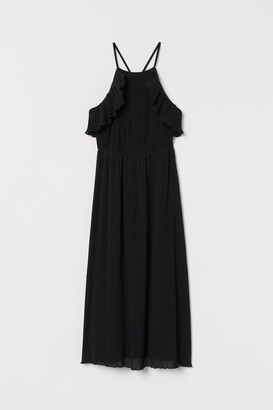 H&M Crinkled dress with flounces
