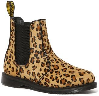 Dr. Martens Leopard Print Genuine Calf Hair Chelsea Boot