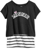 Disney Disney's® Minnie Mouse Layered-Look T-Shirt, Big Girls (7-16)