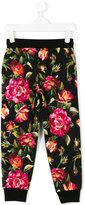 Dolce & Gabbana rose print leggings - kids - Cotton - 6 yrs
