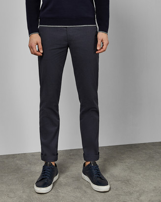 Ted Baker ICELND Slim fit printed cotton trousers