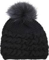 Inverni Cable knit cashmere beanie