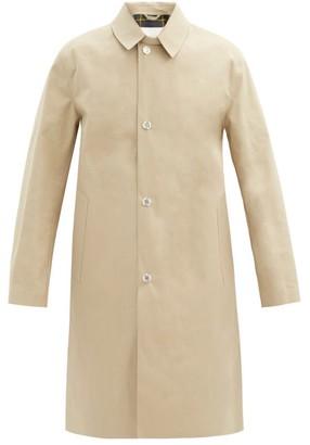 MACKINTOSH Dunkeld Single-breasted Check-lined Cotton Coat - Beige