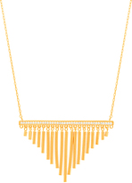 Bliss Gold Fringe Pendant Necklace
