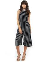 West Coast Wardrobe Love Line Jumpsuit in Black Pinstripe