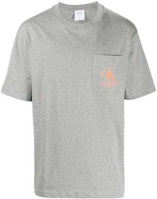 Calvin Klein Jeans Est. 1978 printed-pocket logo t-shirt