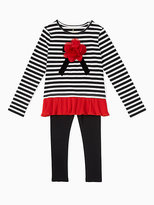 Kate Spade Girls bow applique top